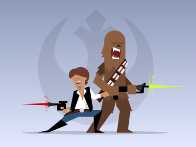 A New Hope: Han and Chewy illustration chewbacca rebels character design star wars a new hope han solo