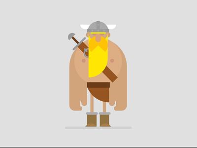 Viking illustration viking character design