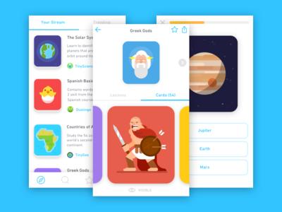 Introducing Tinycards illustrated app ios tinycards flashcards duolingo