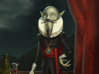 Vampire character design moon dutch halloween vampire illustration