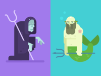 Hades and Poseidon