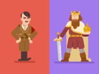 Hitler and Charlemagne