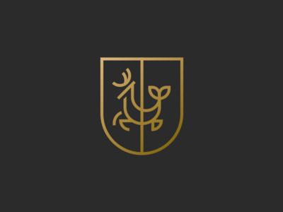 Hartman Coat of Arms II coat of arms medieval serpent sea stag logo