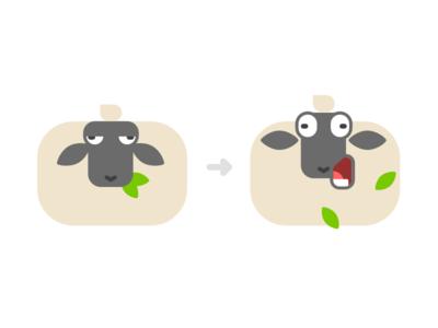 BAAAHHHHH icons flat character design illustration bahhhh sheep