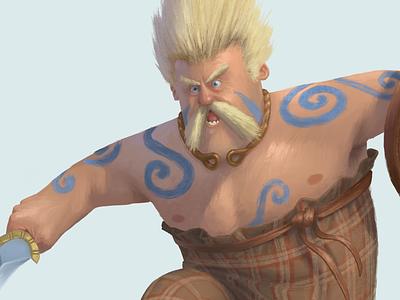 Gallic Celt warrior celt gaul roman ancient france illustration character design