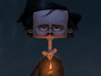 Edgar Allan Poe candlelight poetry raven poe illustration character design