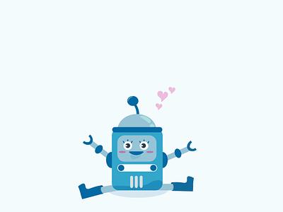 Nanabot illustration robot vector clean minimalist flat character creative  design minimal creative
