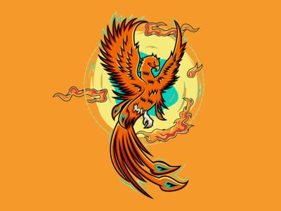PHOENIX illustrator company general america awesome phoenix eagle clothing graphicedesigner logodesigner branding thedesignmate design vector illustration dribble ideas logo instagram logoinspirations