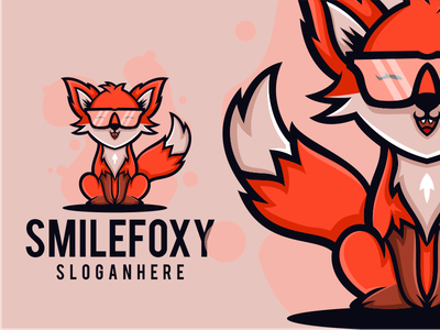 SMILE FOXY america company general baby caracterdesign colorful cute smile fox zerologicstudio logoawesome coreldrawx7 design vector illustration ideas dribble logoinspirations logo instagram