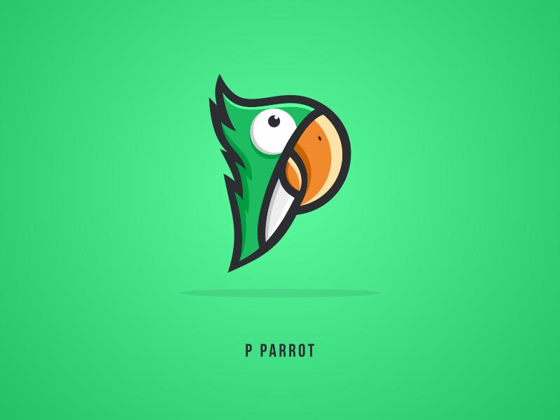 Parrot 99design icon 99d dualmeaning branding vector design logoplace thedesignmate logoawesome illustration dribble logo ideas instagram logoinspirations coreldrawx7
