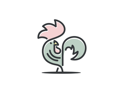 LINE ROOSTER thedesignmate logoplace logoawesome design vector illustration 99d dribble logo instagram ideas logoinspirations coreldrawx7