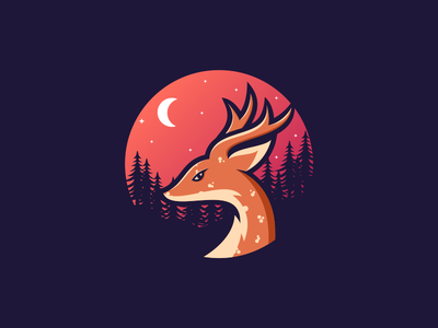 DEER night deer branding agency sale companylogo company brandidentity branding dualmeaning thedesignmate design vector illustration dribble logo instagram ideas logoinspirations