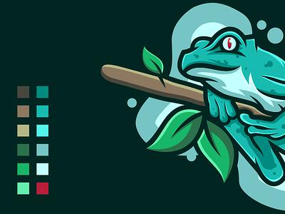 COOL FROG cool frog brand sale logoawesome design vector illustration 99d dribble logo instagram ideas logoinspirations