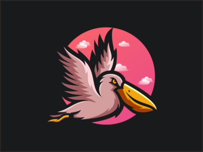 PELICAN company general dubai flatcolor caracter sale logodesign designer fly pelican thedesignmate logoawesome design vector illustration dribble logo instagram ideas logoinspirations
