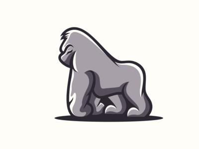 GORILLA primata nature wild animals animal gorilla sale logodesigns graphidesign logodesign branding thedesignmate design vector illustration dribble logo ideas instagram logoinspirations