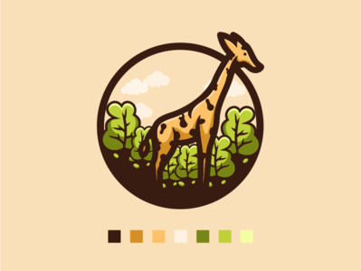 GIRAFFE awesome graphicdesigner logodesigner logodesign african animals cute forest africa giraffe brandidentity branding thedesignmate logoplace vector illustration dribble logo ideas instagram logoinspirations