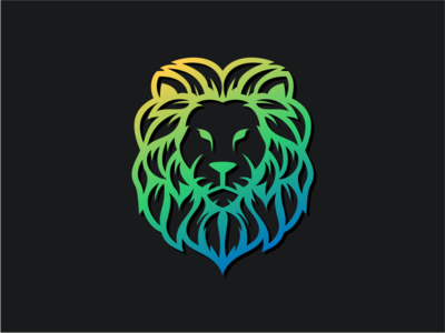 LION green colorful king beast wild animal company general sale logoplace thedesignmate logoawesome design vector illustration dribble ideas logo instagram logoinspirations