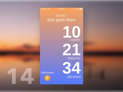 Daily UI #014 - Countdown Timer time colorful sunset countdown interface gradient dailyui colors app