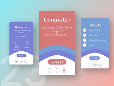 Daily UI #023 - Onboarding mobile interface user application gradient onboarding design dailyui