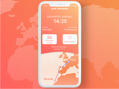 Daily UI #029 - Map mobile world map services interface travel gradient dailyui ui orange application