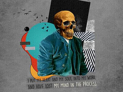 Lost My Mind | Collage Art creative social media advertising art collage art collage vector illustration artwork design