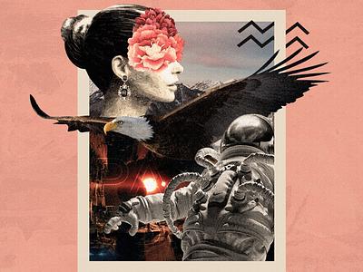 PASSAGE | Collage Art socialmedia creative social media advertising artwork design