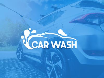 Car Wash   Logo flat logo illustration design branding