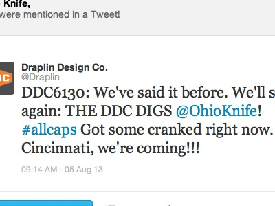 DDC digging the Ohio Knife!