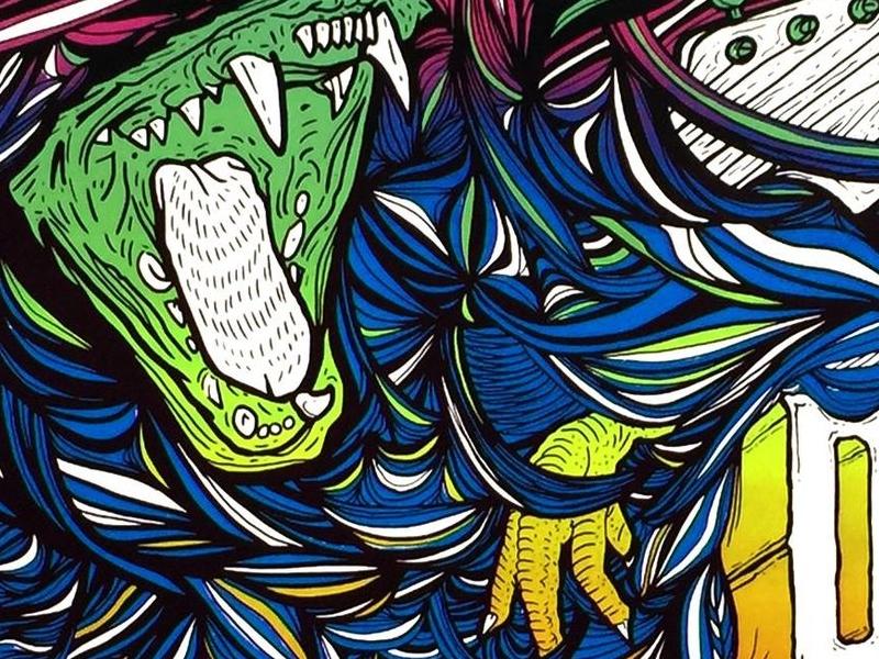 Dinosaur Jr Poster Print illustration design print poster whbv dinosaur jr
