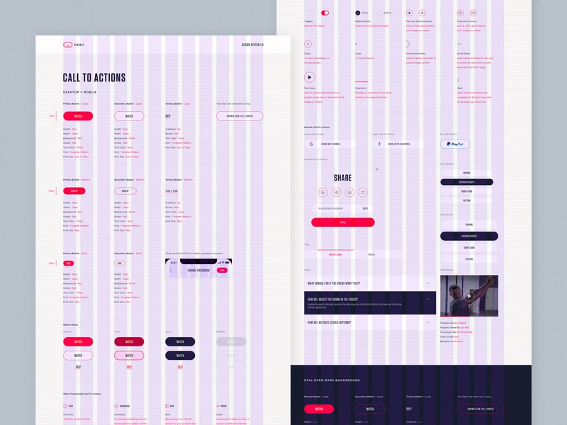 Call To Actions For a Design System