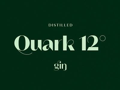 Quark 12˚ Gin typogaphy design label branding mark logo