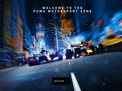 PUMA Motorsport Racing Experience design direction illustration digital uiux app design web design ui branding art direction