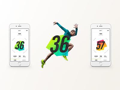 Nike NTC App data visualization design mobile ui design direction web design uiux app design mobile design ui branding
