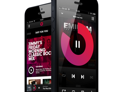 Beats Music App ux data visualization design art direction app design mobile ui mobile design uiux ui branding