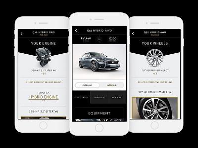 Infiniti's Digital Transformation design direction ux design branding mobile design web design mobile ui uiux app design ui