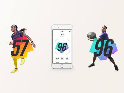 Nike NTC App typography uiux mobile ui data visualization app design web design mobile design ui branding art direction