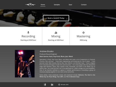 Audio Engineering Landing Page