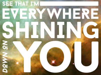 Shining Down typography vector personal inspiration