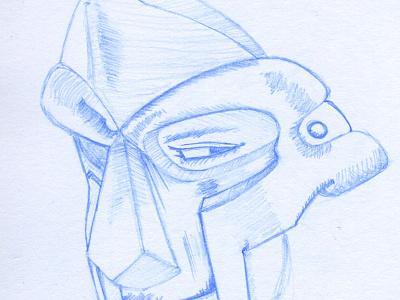 MF DOOM illustration illustration wip sketch rise of the monkey