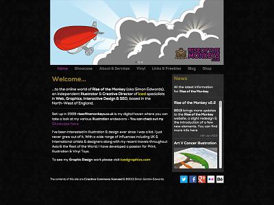 riseofthemonkeys.co.uk v2.2 web html css illustration graphic design web design