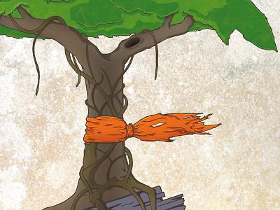 Yggdrasilli Illustration art v cancer illustration photoshop