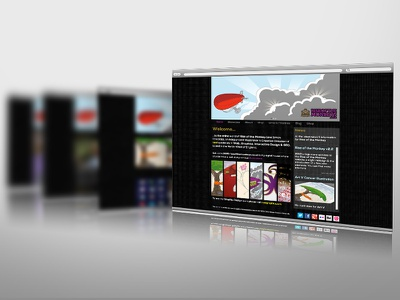 riseofthemonkeys.co.uk v2.2 - now live web html css illustration graphic design