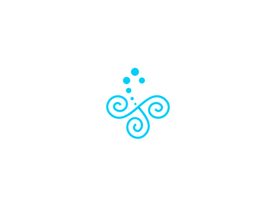 Symbol - Triskle Urban  Spa blue graphic design logotype design logotype symbol icon logo logomarca design graphic