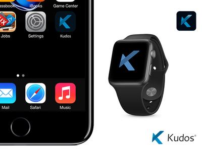 Kudos app concept fitness app design gráfico logotype design design graphic gráfico de design design de logótipo marca graphic design logo logotype logomarca