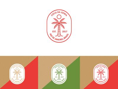 Coco Da  Gema food coconut logotipo design marca design graphic logotype design logo logomarca