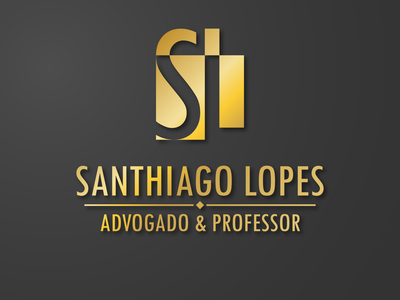 SANTHIAGO LOPES ADVOGADO E PROFESSOR in colors logotype branding logo design logodesign logo graphic design logo graphic design graphicdesign design