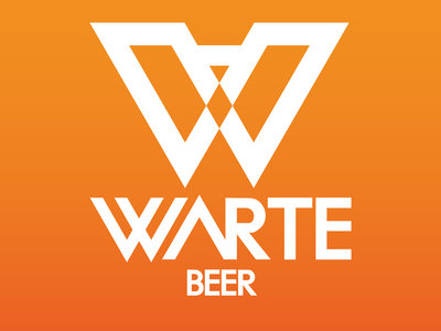 WARTE BEER in color logodesign logo design graphic design logo logotype branding logo graphic design graphicdesign design
