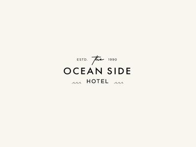 The Ocean Side Hotel Logo Mockup