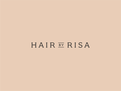 Hair by Risa Logo typography hairdresser design branding