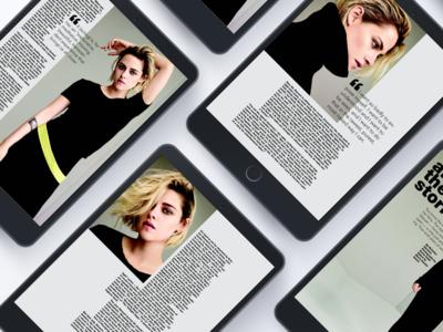 Digital fashion magazine